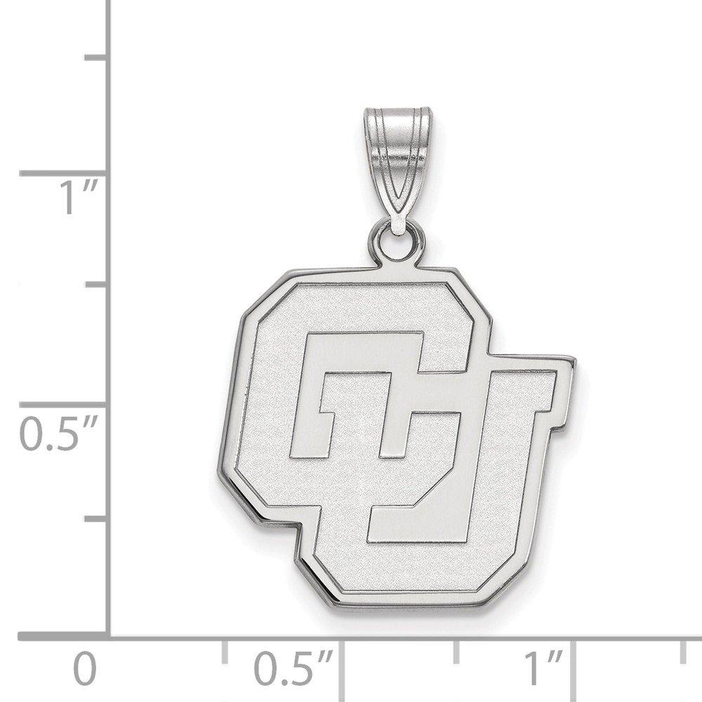 FB Jewels Sterling Silver LogoArt Auburn University Small Dog Tag