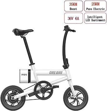 WYD Mini Bicicleta Eléctrica Plegable 36V 6A 250W E-Bike con ...