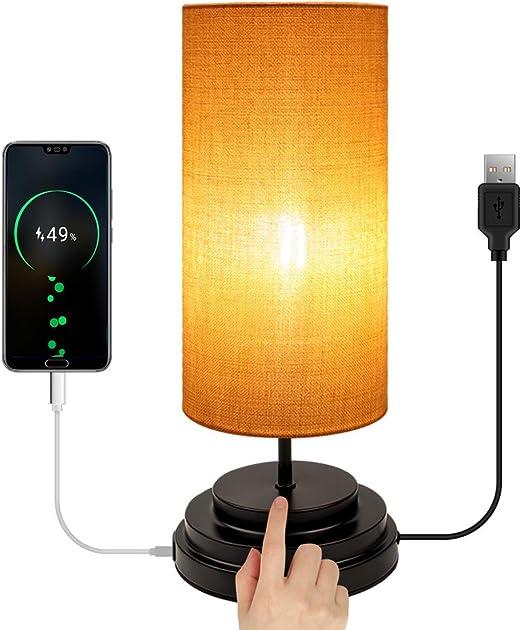 Moobibear Lampe de Chevet LED avec Contrôle Tactile, Lampe
