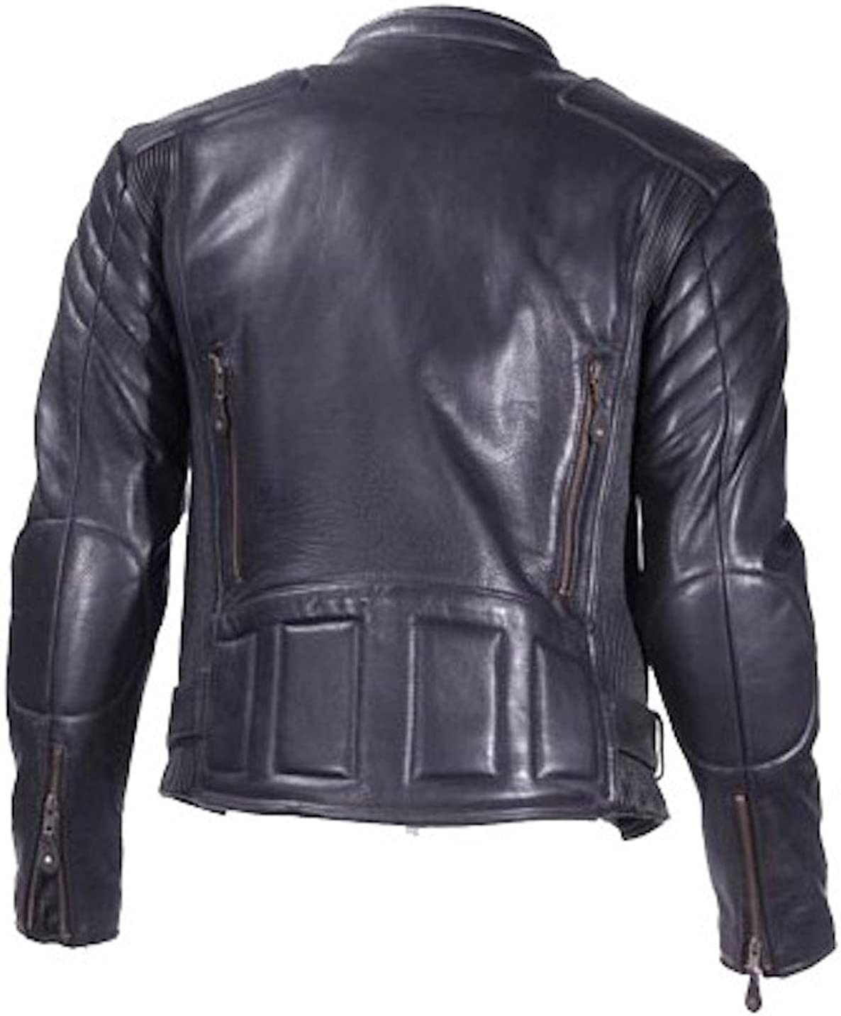 Ultimate Leather Apparel Naked Leather Padded Motorcycle Racing Jacket with Air Vents