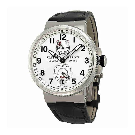 Ulysse Nardin Marine Cronómetro Negro Piel de cocodrilo Mens Reloj 1183 – 126 – 61