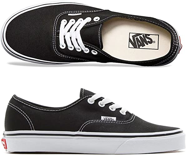 Amazon.com | Vans Authentic Black Skate Shoes (10 D(M) US ...