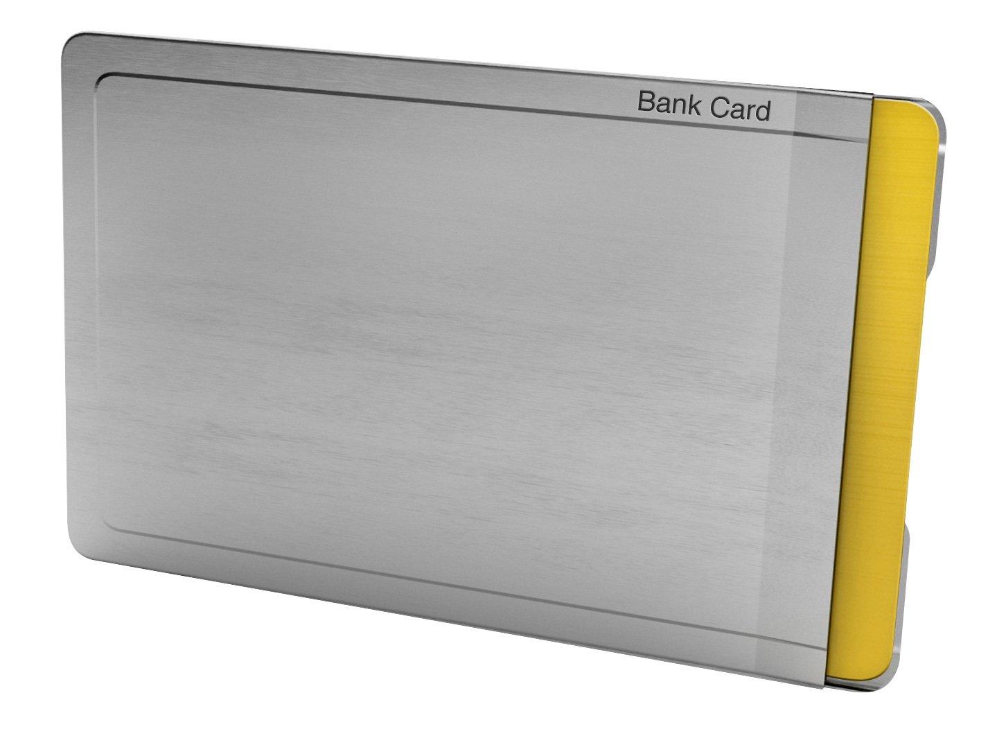 CardTresor Note Kartenschutzhülle mit Randbeschriftung EC-Karte, RFID/NFC-Schutz BMK Innovationen EC005AE