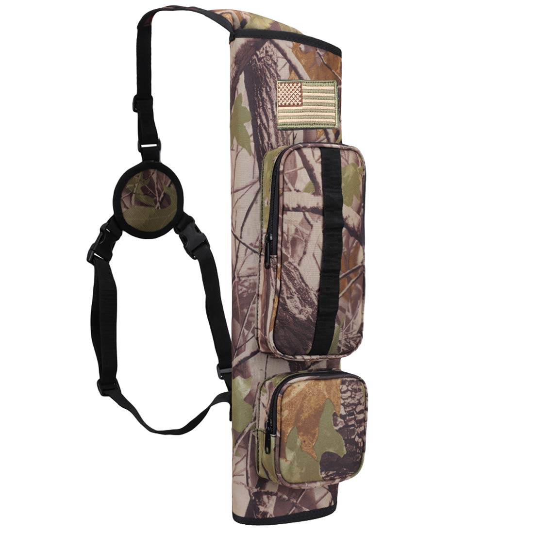 Kratarc Back Arrow Quiver Field Quiver Archery Shoulder Hanged Carry Hunting Target Arrow Quiver Bag with 2 Pockets (Camouflage) by Krayney