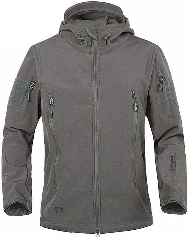 Military Men Soft Shell Waterproof Windproof Jacket Coat,CP,XL