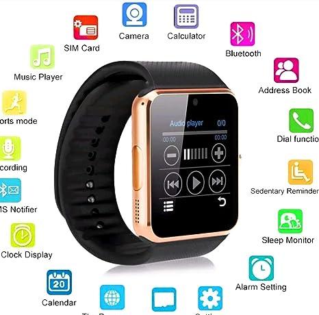 TKSTAR Montre Connectée GT08 Smart Watch Bluetooth: Amazon.es ...