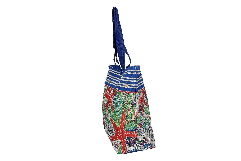 GIANMARCO VENTURI Borsa mare piscina donna blu a spalla apertura zip VV310   Amazon.it  Abbigliamento d92b6d56a5b