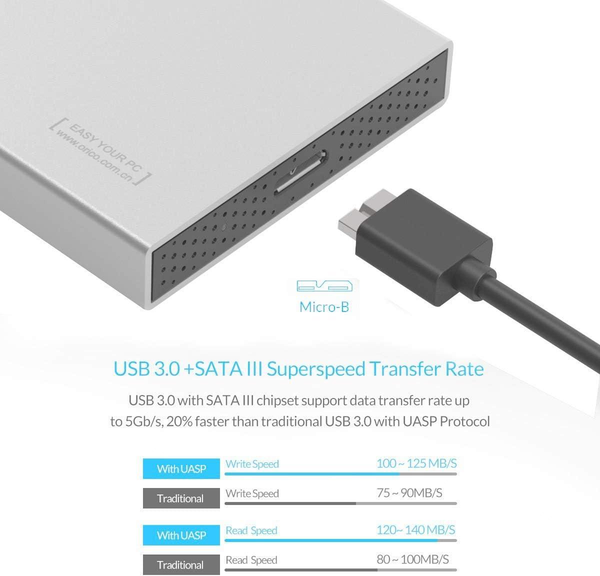 ORICO de 2,5 pulgadas de aluminio USB 3.0 unidad de disco duro ...