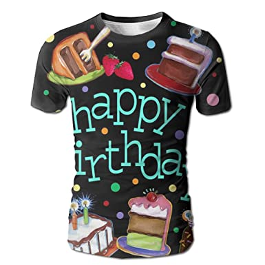 Amazon Com Jingclor Mens Happy Birthday Cake Fashion Design Printed