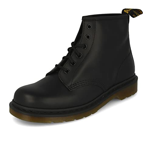 cfca7498864 Dr. Martens 101 Smooth Black 6 Eye Boots UK 8: Amazon.co.uk: Shoes ...