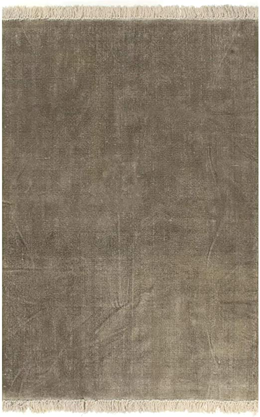 XINGLIEU Alfombra Kilim de algodón 200 x 290 cm Gris Topo Alfombra ...