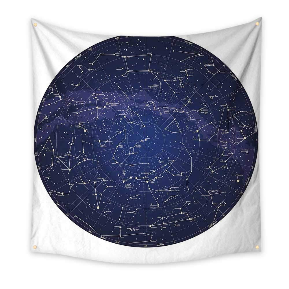 Amazon Com Constellation Bedroom Tapestry High Detailed Sky Map Of