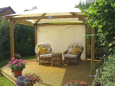 """White pavilion gazebos: 3m x 3m (9'9"""" x 9'9""""): garden gazebo hot ..."""