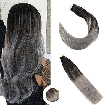 Ugeat 20zoll 50cm 50g 100 Echtes Brasilianisches Menschliches Haar