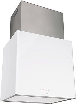 Nodor Isla Cube - Campana (Recirculación, Isla, LED, Color blanco, 60 cm, 48 cm): Amazon.es: Hogar