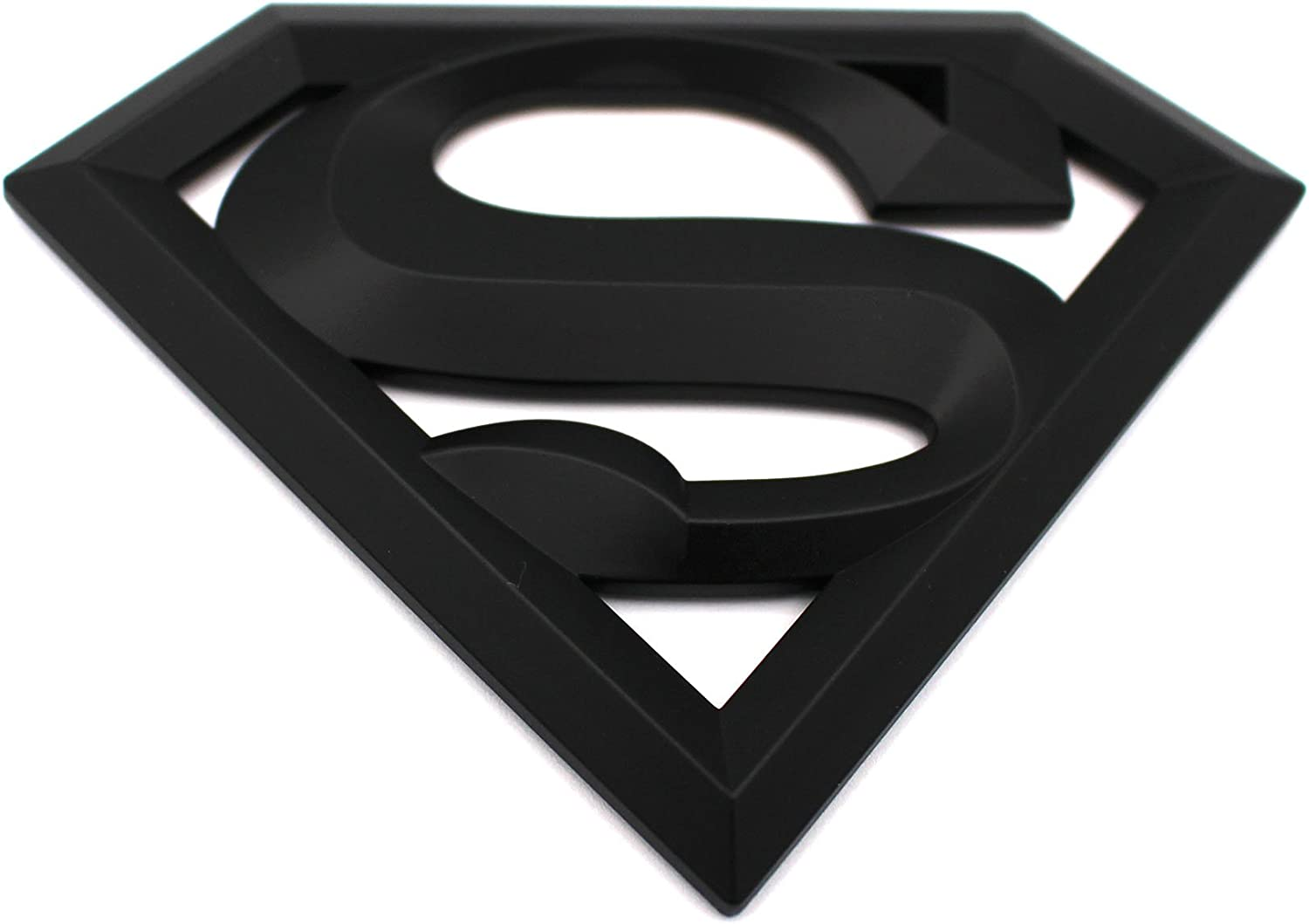 3D embl/ème Superman Noir mat plastique avec badge de vmg Collant Store en mousse