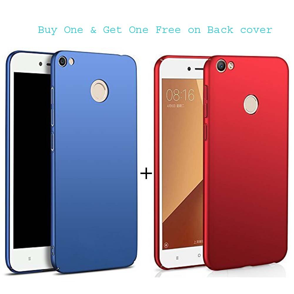 huge selection of 8ba98 60b9a ORC Redmi y1/mi y1/Xiaomi Redmi Y1 360 Degree Sleek Rubberized Matte Hard  Back Cover for Redmi Y1 (Blue+Red) Combo Offer