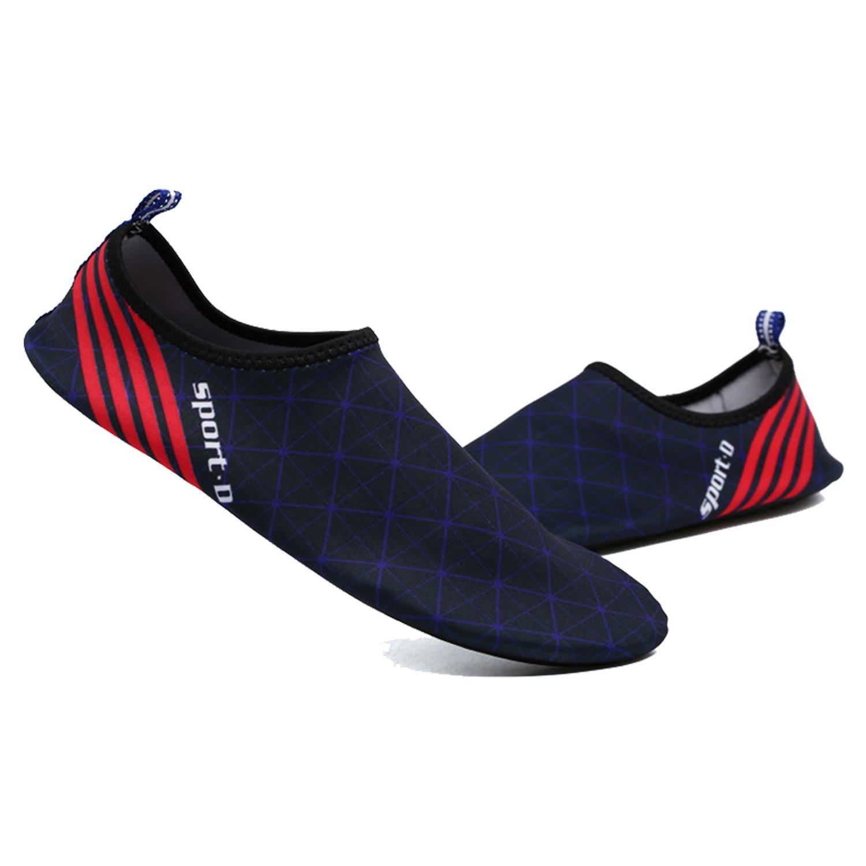 ba knife Water Shoes Mens Womens Beach Swim Quick-Dry Aqua Socks Pool Shoes for Surf Yoga Water Aerobics B0746C29VP 12 B(M) US Women / 10 D(M) US Men|Blue
