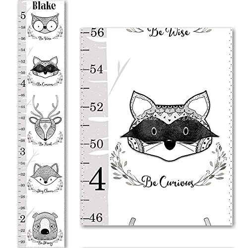 Amazon Height Chart Canvas Growth Chart Black And White