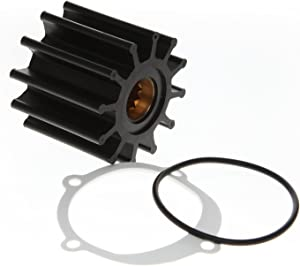 REPLACEMENTKITS.COM - Water Pump Impeller Kit Replaces 09-812B-1 Johnson F6B-9 102480501 -