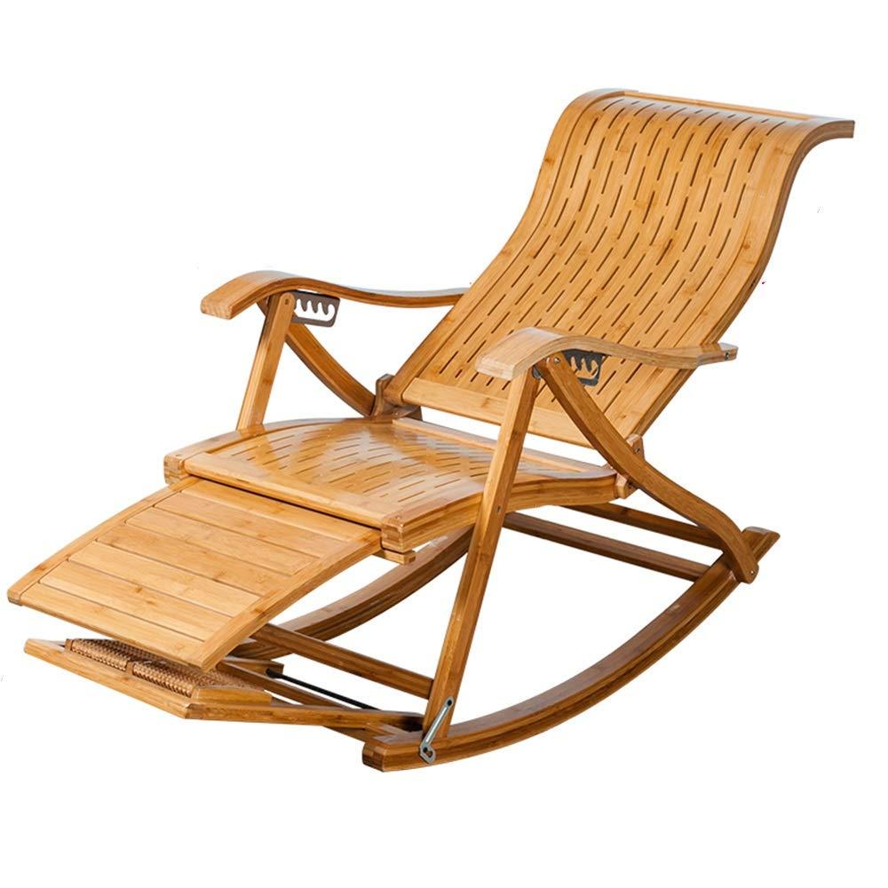 Tipo S Bambú Mecedora Ajustable Doblez Sillón Tumbona ...