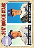 2017 Topps Heritage Baseball RC #203 Hunter Dozier/Matt Strahm Royals