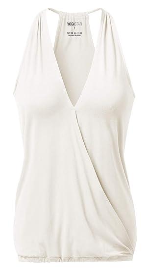 Yogistar ala - Camiseta de Tirantes para Yoga, Color Marfil ...