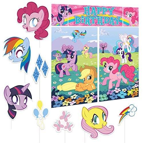 My Little Pony Premium Photo Booth Birthday Party Fun Props Kit by Balloons and (Pinkie Pie Kit)