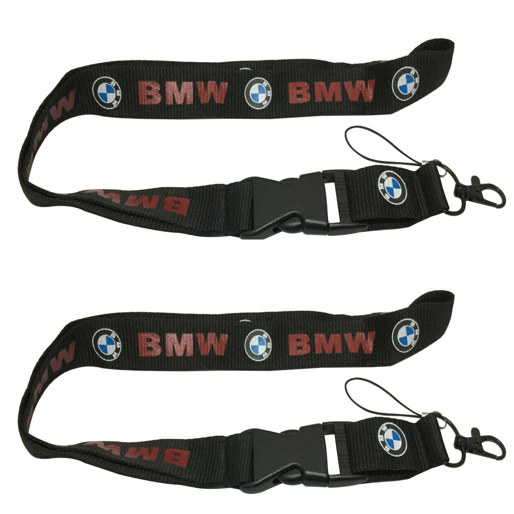 2pcs Auto Sport for BMW Car Lanyard Strap Keys Accessories Office Badge ID Holder Webbing Strap Quick Release Buckle