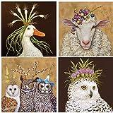 Vicki Sawyer Cocktail Napkins Owl Family Miranda Vineyard Sheep Snow Queen Assorted Variety Pack 40 Total Napkins