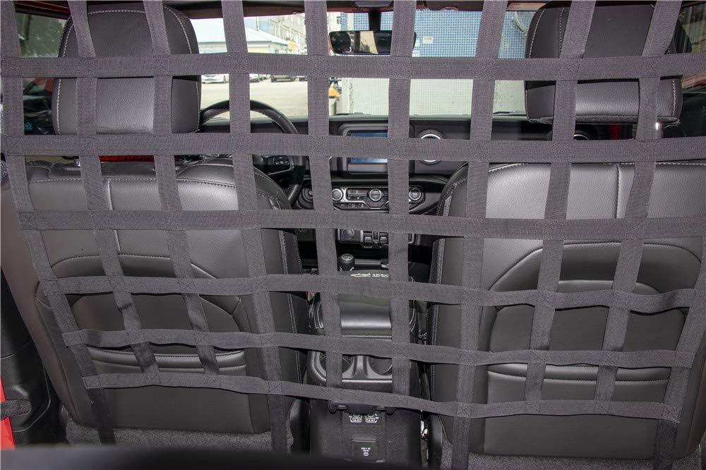 Hgcar Car Trunk Isolation Net Trunk Organizer Cargo Net for Jeep Wrangler JK and JL 2007-2019