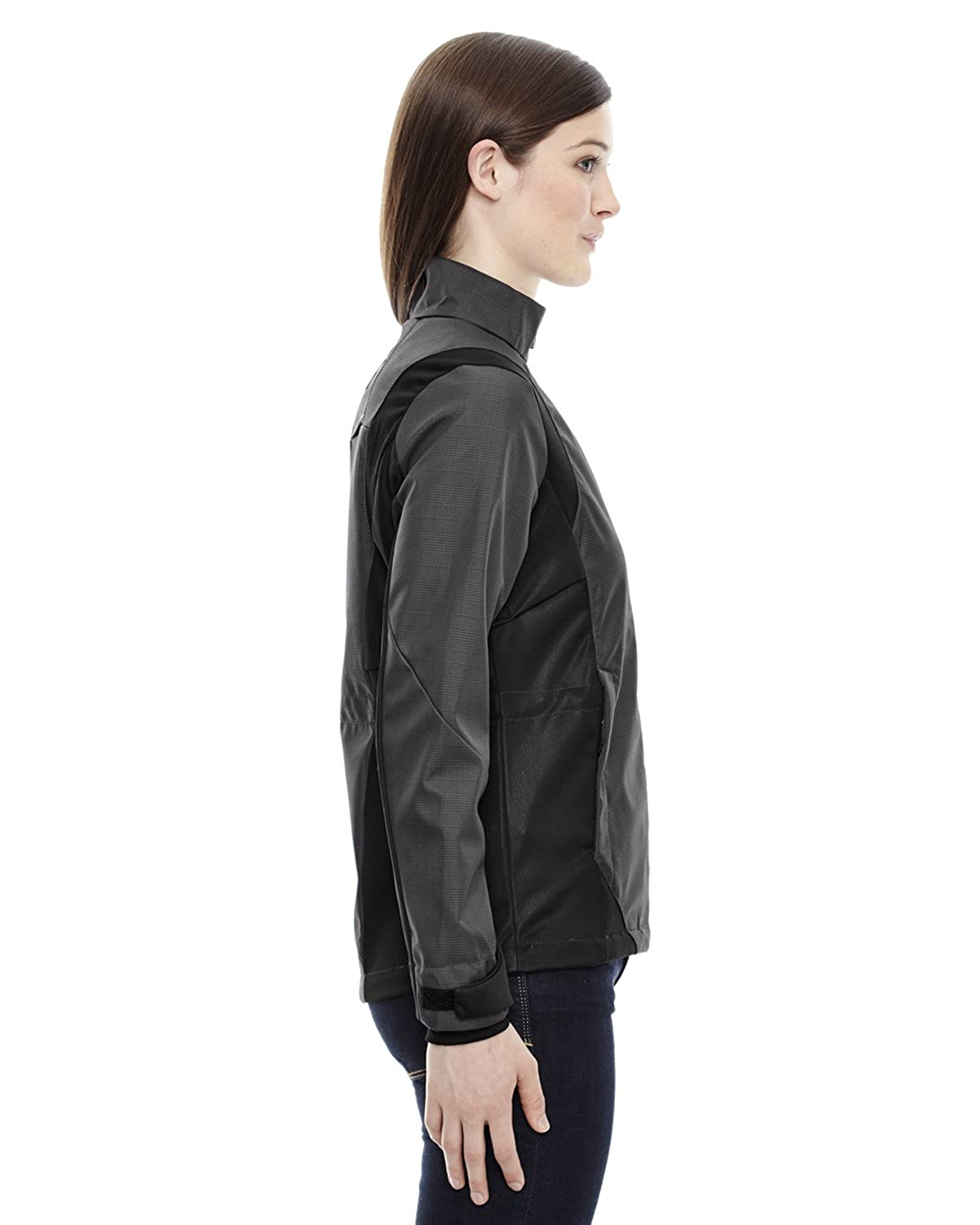 78686 Ash City North End Sport Blue womens 3-LAYER LIGHT BONDED SHELL JACKET