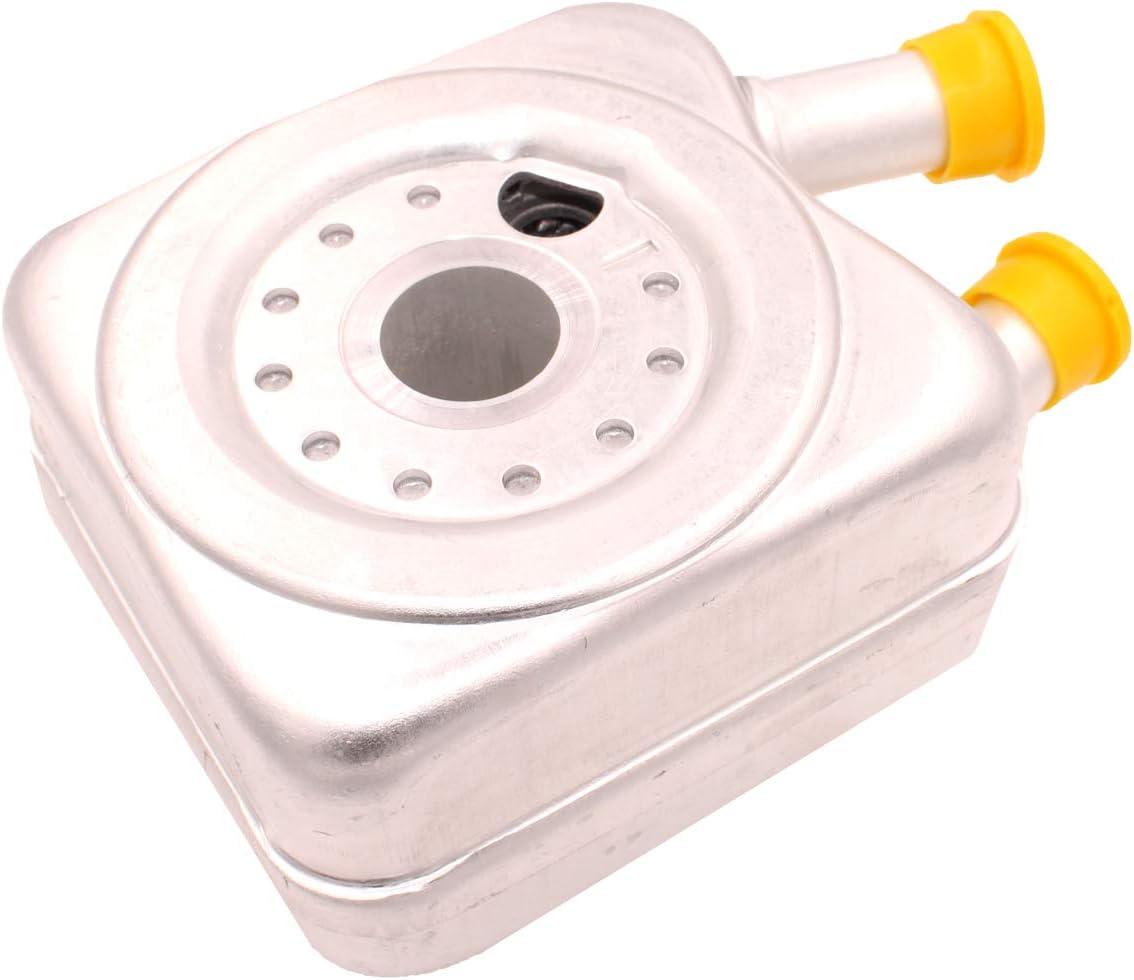 HZYCKJ Enfriador de aceite del motor OEM # 068 117 021 B 068117021B: Amazon.es: Coche y moto