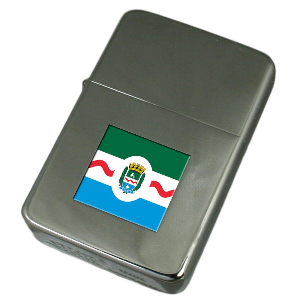 Engraved Lighter Maceio City Brazil Flag