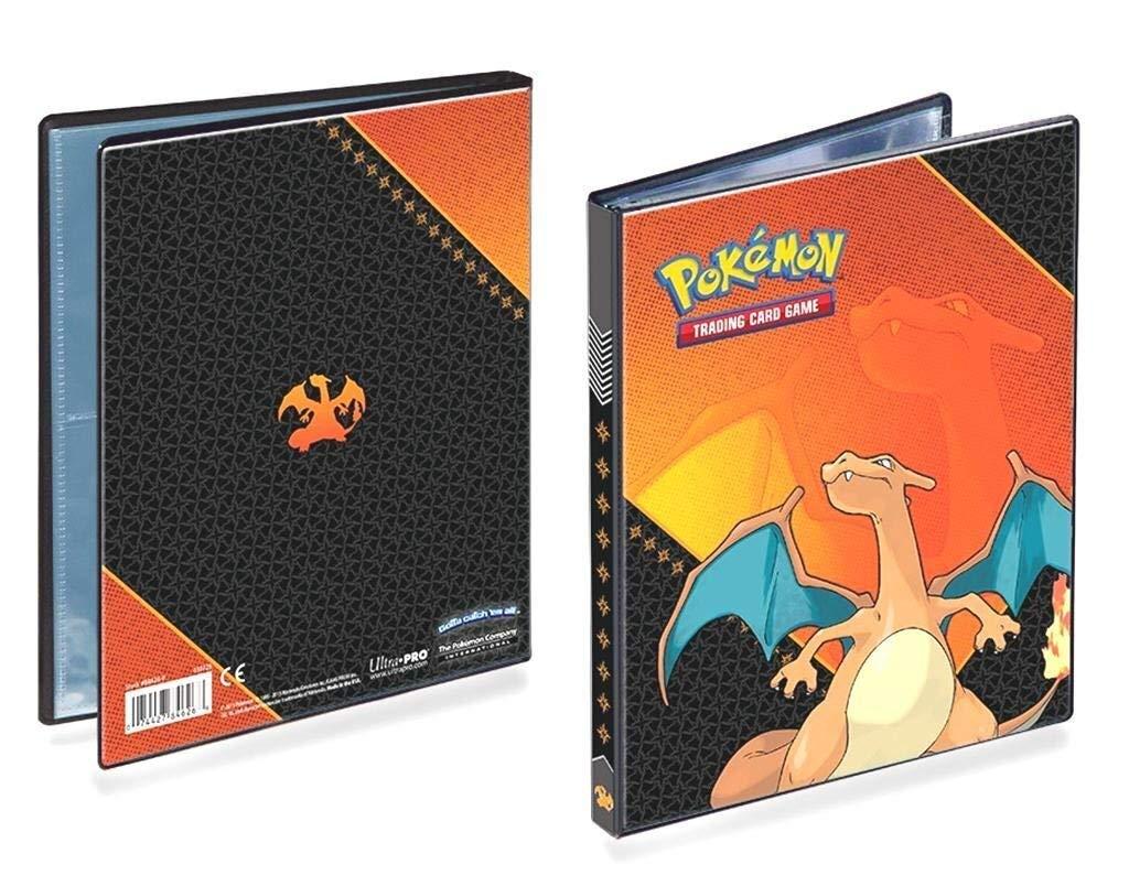Dracaufeu Classeur avec 80 Compartiments//Dossiers//Scrapbook pour Cartes Lively Moments Pokemon Ultra-Pro-Binder A5 Glurak