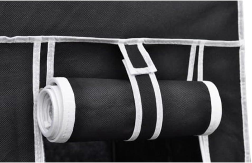 5 Cassetti 2 Pezzi Armadio Guardaroba Pieghevole Richiudibile Tubi dAcciaio Armadio in Tessuto Armadio Appendiabiti in Tessuto Porta avvolgibile con Zip per Vestiti Scarpe Nero