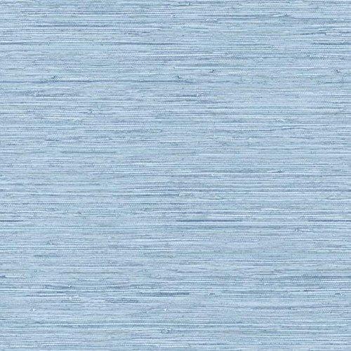 York Wallcoverings WB5504 Nautical Living Horizontal Grass Cloth Wallpaper, Faded Denim Blue/Chambray Blue/Grey - Decorator Grass Cloth Wallpaper