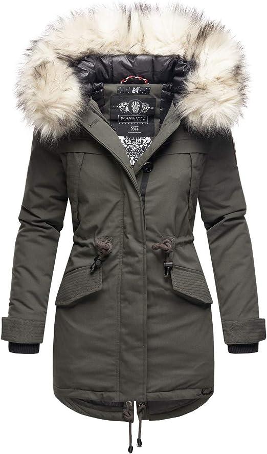 Marikoo B814 Winterjas voor dames, parka, warm gevoerd