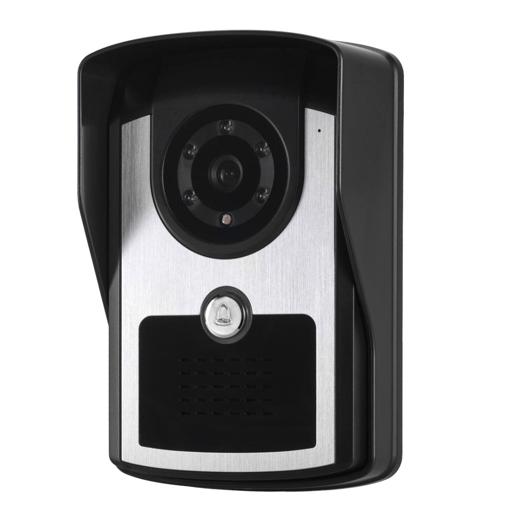 MonkeyJack 7 inch Color LCD Wired Video Door Phone Doorbell Home Entry Intercom System Kit 2 Monitor 1 Camera Night Vision by MonkeyJack (Image #8)