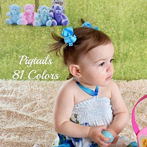 Amazon Com Pigtail Bows Pigtail Hair Bows Baby Hair Clips Hair