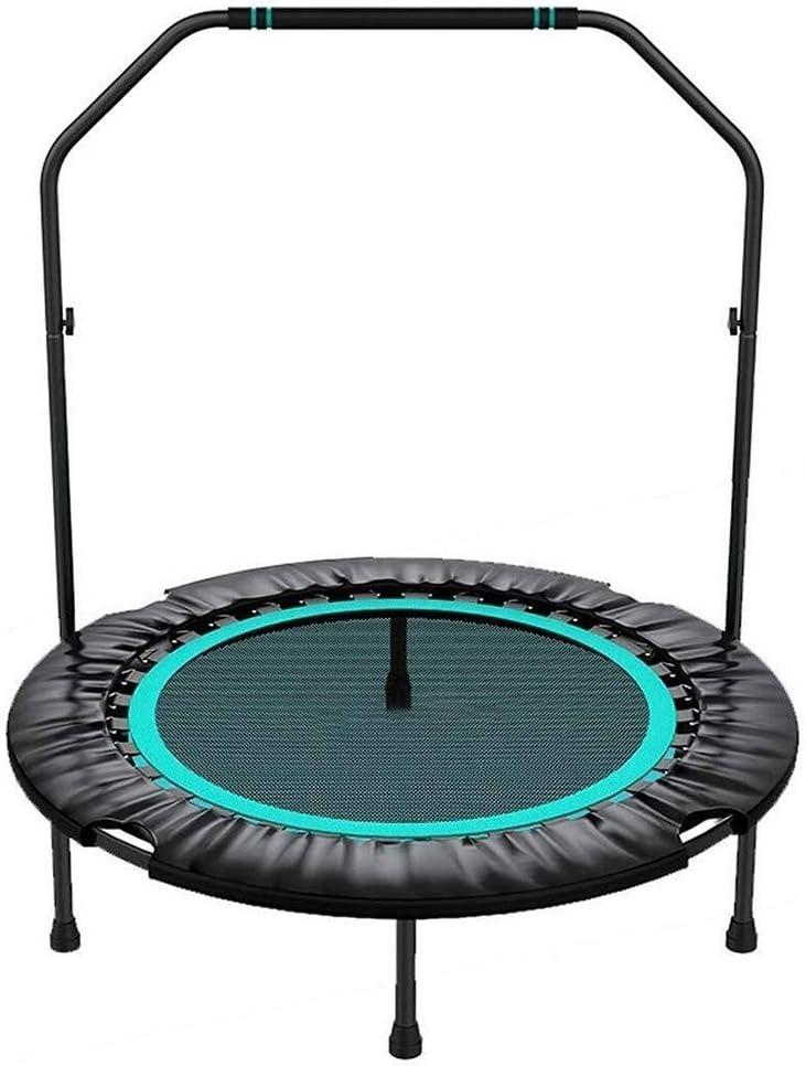 BLWX LY Camas elásticas 40 Pulgadas de Fitness Mini Plegable con Baranda, Estable y Tranquilo Ejercicio Rebounder for Adultos de los niños de Interior/Jardín Entrenamiento Trainer