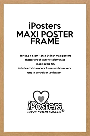 oak wood effect large poster frame for 36 x 24 inch 915 x 61 cm