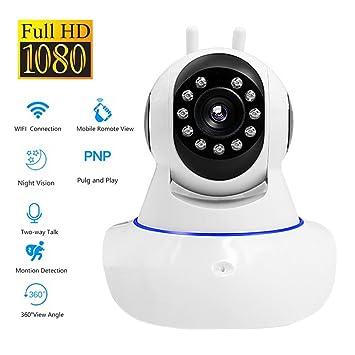 OMZBM 1080P HD Inicio Seguridad Domo Cámara De Vigilancia 360 Grado PTZ Pan/Tilt App