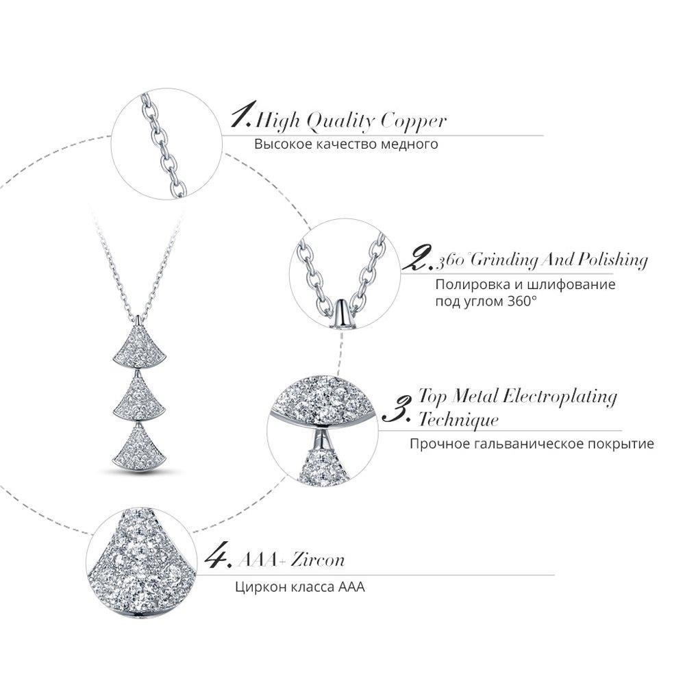 IUHA Ice Tree Necklace Austria Zirconia Necklace//Accessories Jewelry//Hypoallergenic//Gifts