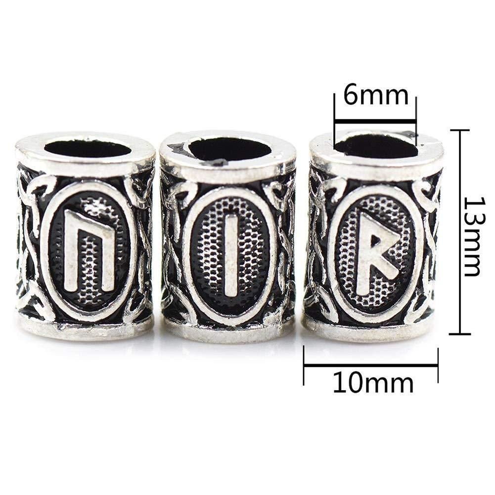 Rune Norse Vichingo Barba Capelli Perline sono Realizzate in Robusto Materiale in Lega di Zinco 400 Bande