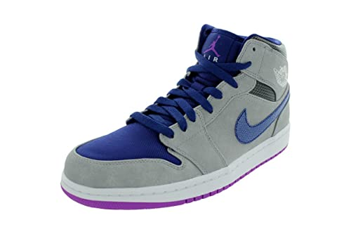 Air 1 Jordan Nike Mid ArgentoporporaTaglia Matte 43 H2IEDW9Y