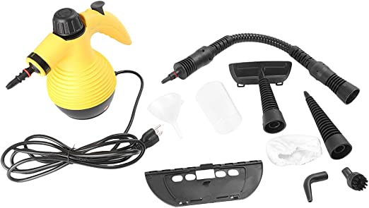 Amazon Com Mallofusa Portable Steam Cleaner Multi Purpose Handheld Steam Cleaning Tool For Bathroom Kitchen Office Sofa Car Cleaning And Disinfecting No Chemicals Yellow