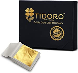 Tidoro Edible Gold Leaf Sheets - 1.2