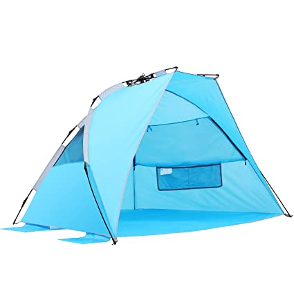 Image Unavailable. Image not available for. Color SEMOO Beach Tent Sun Protection ...  sc 1 st  Amazon.com & Amazon.com : SEMOO Beach Tent Sun Protection Shade Shelter ...
