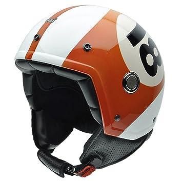 NZI 050260G690 Tonup Eighteen Casco de Moto, Diseño Bola de Billar, Talla 57 (